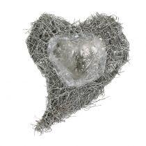 Vine hjärta tvättad vit 16cm x 21cm 1p