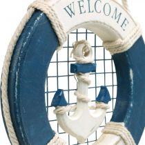 Dekorativ livboj, maritim, flytande ring för att hänga upp Ø14cm