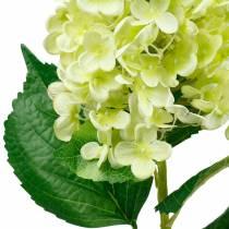 Konstgjord hortensia hortensia, hortensia grön, silkesblomma av hög kvalitet 98cm