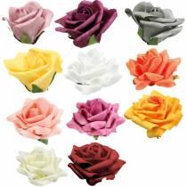 Foam-Rose Ø10cm olika färger 8st