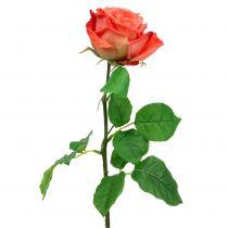 Rose artificiell blomma lax 67,5cm