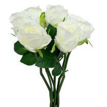 Rose vit Ø6cm L30cm 6st