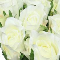Rose vit 42cm 12st