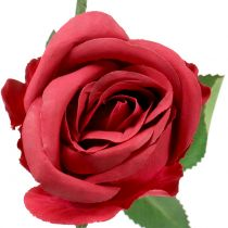 Rosröd 44cm 6st