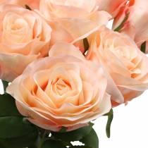 Aprikos av konstgjord rosbukett 8st