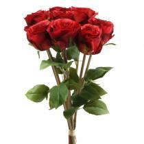 Ros i gäng konstgjord röd 36cm 8st