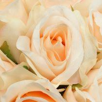Rosa bukett persika Ø22cm