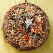 Rosengäng, sidenblommor, konstgjorda rosor orange, antikt utseende L23cm 8st