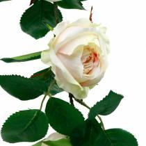 Romantisk roskrans, sidenblomma, konstgjord rosenränna 160cm