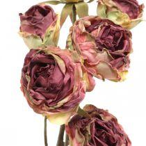 Konstgjord ros, bordsdekoration, konstgjord blomma rosa, rosengren antikt utseende L53cm