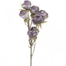Rosegren, sidenblomma, bordsdekoration, konstgjord roslila antikt utseende L53cm