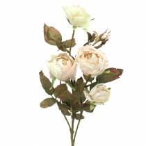Konstgjord rosgren grädde vit 76cm