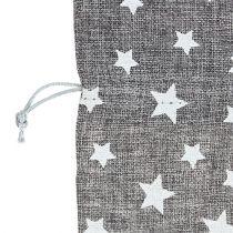 Väska med stjärnor Ø23cm H35cm grå