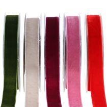 Sammetband olika färger 20mm 10m