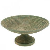 Skål med fot, dekorativ skål, metallkärl, antikt utseende, Ø26cm H12cm