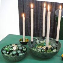Dekorativ skål vintage grön metall planteringsskål Ø31cm