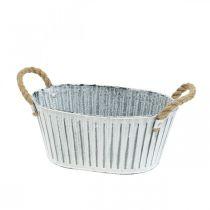 Planter med handtag, metallblomskål, dekorativ skål för plantering L28cm