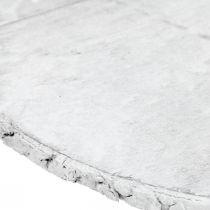 Deco träskiva vintage bordsdekoration vit plywood Ø25cm