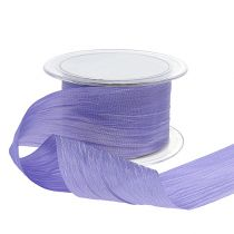 Bandband lila krasch 50mm 20m