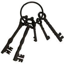 Nyckelring med metallringbrun 7cm - 15,5cm