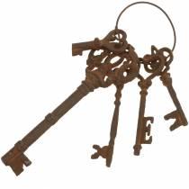 Nyckelring gjutjärn galler 36cm 5 delar