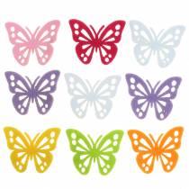 Filtfjärilsborddekoration Diverse 3,5 × 4,5 cm 54 stycken Olika färger