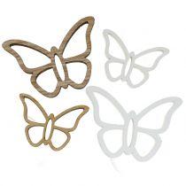 Träfjärilsvit / naturlig 3cm - 4,5 cm 48p