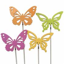 Blomknoppar fjärilsträ 7x5,5cm 12st diverse