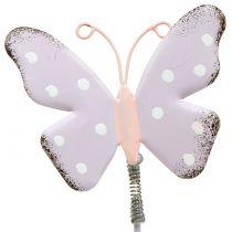 Blommaplugg fjärilspastell 24cm 12st