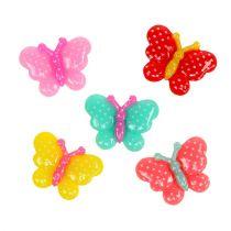 Fjärilar mini 2 cm färgade 24st