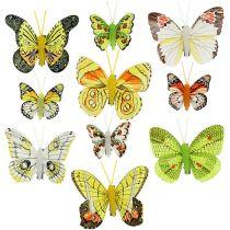 Fjärilar med klämma 5cm - 7cm diverse 10st