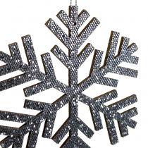 Snöflingagrå för att hänga Ø8cm - Ø12cm 9st