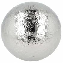 Flytande kula blommor silvermetall Ø10cm
