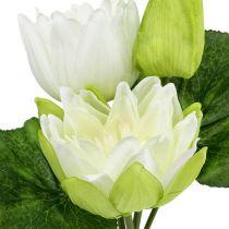 Vattenliljor konstgjord vit 35cm