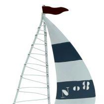 Segelbåt 11 cm x 19 cm vitblå 3st
