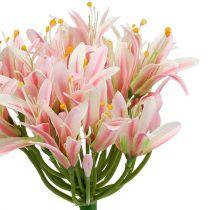 Silk blomma agapanthus rosa 80 cm