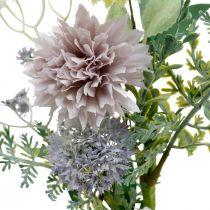 Sidenblommor i ett gäng, sommardekorationer, krysantemum och sfäriska tistlar, konstgjorda blommor L50cm