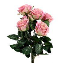 Silkeblommor rosa Ø7cm L37cm duskrosa 6st