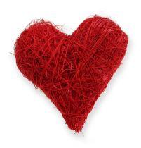 Sisal hjärtan 5-6 cm röd 24st
