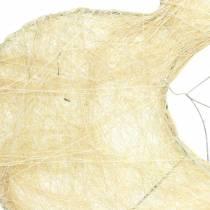 Sisal ärmhjärta blekt 16cm 10st