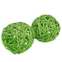 Spanball ljusgrön Ø8cm 4st