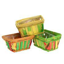 Chip basket fyrkantig mångfärgad 15cm 12st