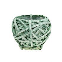 Spånkorg rundgrön Ø15cm H14cm