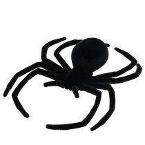 Spindelsvart flockade 16cm