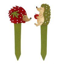 Anslut igelkott röd, grön 13 cm 16 st