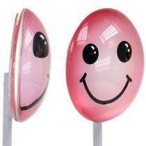 Dekorativ smiley på pinnen blandade färger 3,5 cm 8st