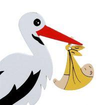 Anslut stork med baby 10cm L28cm 14st