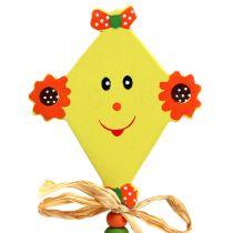 Plug för blommor drake gul L31cm 4st