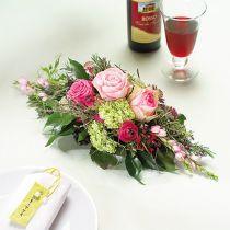 Blommor skum 1/2 tegel Garnette 36 8st