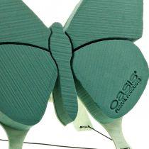 Blommig skumfigur fjäril med stativ 56cm x 40cm
